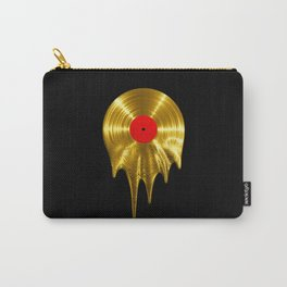 Melting vinyl GOLD / 3D render of gold vinyl record melting Carry-All Pouch
