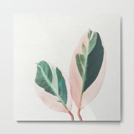 Pink Leaves I Metal Print