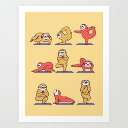 Sloth Yoga Art Print