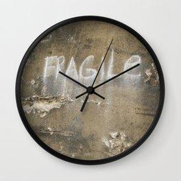 Fragile city Wall Clock