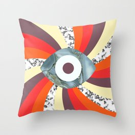 Hypno Retro Eye Throw Pillow