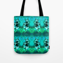 Here be Dragons (emerald green) Tote Bag