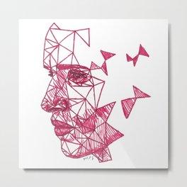 Eddie Redmayne Fracture Drawing Metal Print