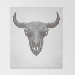 American Bison Skull Throw Blanket