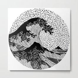 The great wave of Kanagawa. Hokusai Metal Print