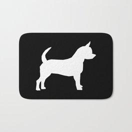 Chihuahua silhouette black and white pet art dog pattern minimal chihuahuas Bath Mat