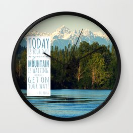 Get On Your Way! Wall Clock