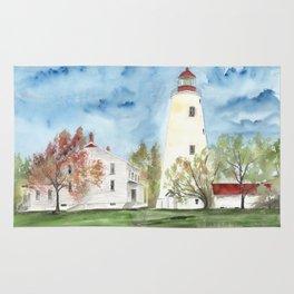 Sandy Hook Lighthouse Rug