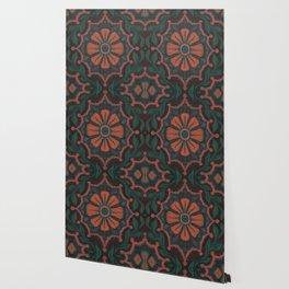 Folk Flower, Vintage Bohemian Floral Pattern Wallpaper
