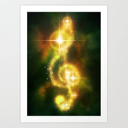 Cosmic Orchestra Art Print