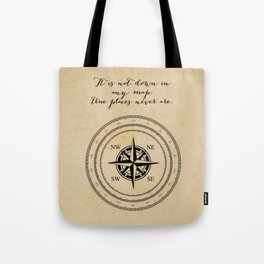 Moby Dick - Herman Melville - True Places Tote Bag