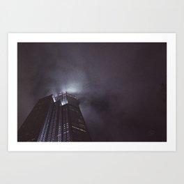 Foggy Night V Art Print