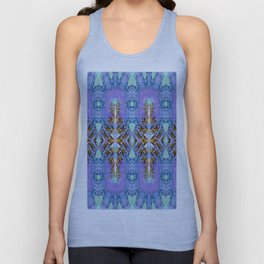Elegant Lavender Floral Abstract Unisex Tank Top