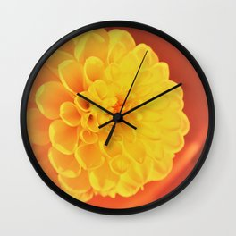 yellow dahlie Wall Clock