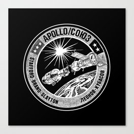 Apollo 18 Soyuz 19 docking mission American crew insignia, - USA-USSR -1975-Space Exploration Canvas Print