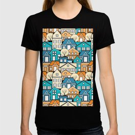 City Houses Pattern T-shirt