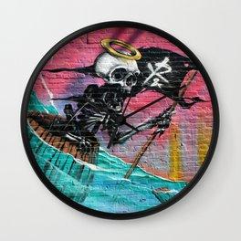 Sailing Skeleton  Wall Clock