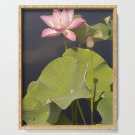 Pink Lotus by Teresa Thompson Serving Tray