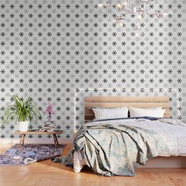 Snowflake Pattern | Black and White Wallpaper