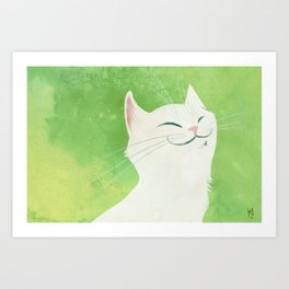 I'm a cat Art Print