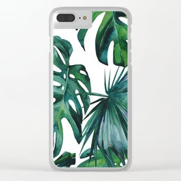 Tropical Palm Leaves Classic II Clear iPhone Case