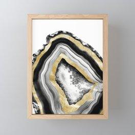 Agate Gold Foil Glam #1 #gem #decor #art #society6 Framed Mini Art Print