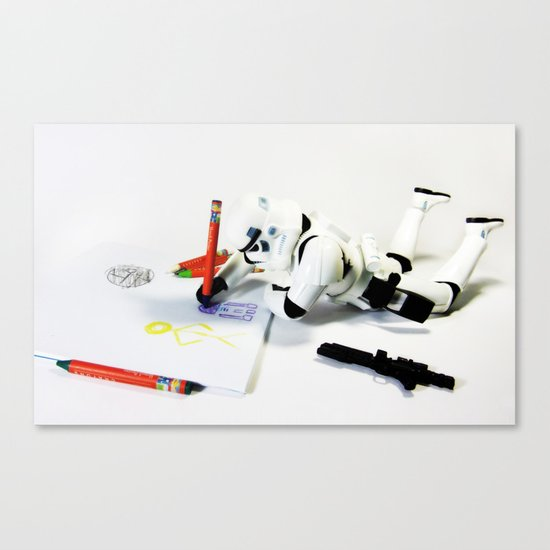 Drawing Droids Canvas Print