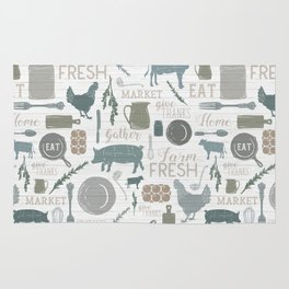 Modern Farmhouse // Gather Round & Give Thanks Rug