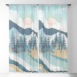 Summer Forest Sheer Curtain