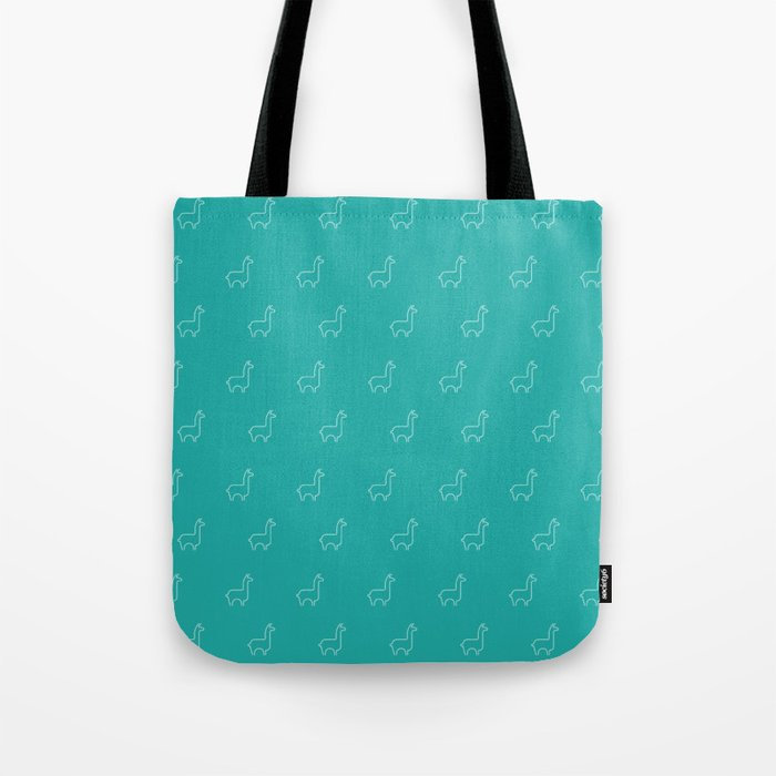 Baesic Llama Pattern (Teal) Tote Bag