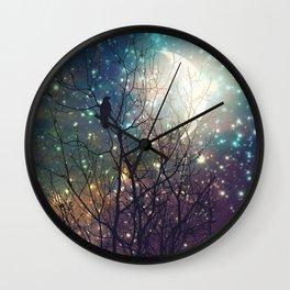 Ravens Twilight Wall Clock
