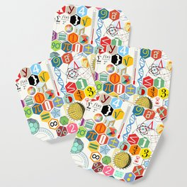 Math in color (white Background) Coaster