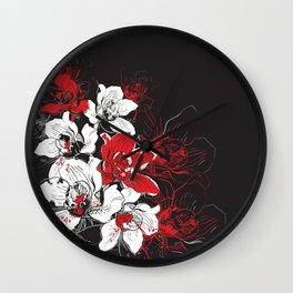 Rouge et Noir Wall Clock