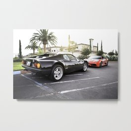 Tale of Two Ferraris Metal Print