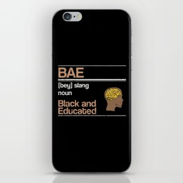 Black And Educated iPhone Skin