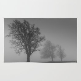 Morning Mist Trees - Landscape Photography Rug