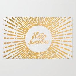 Hello Sunshine Gold Rug