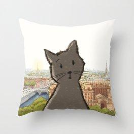 City Cat Throw Pillow