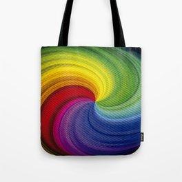 Twister rainbow Tote Bag