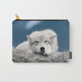 Sleepy Wolf Carry-All Pouch
