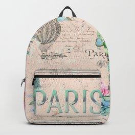 Paris - my love - France Nostalgy - pink French Vintage Backpack