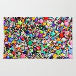 Rainbow Sprinkles - cupcake toppings galore Rug