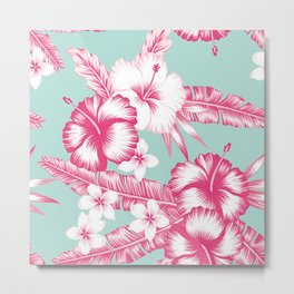 Hawaiian Hibiscus Flowers Metal Print