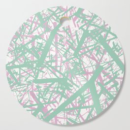 Contemporary Geometric: Mint and Pink Cutting Board