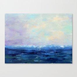 Indigo Seascape Oil painting Canvas Print