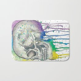 Watercolor Skull Bath Mat
