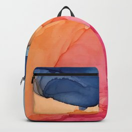 Tropical Bliss - Alcohol Ink Painting Backpack