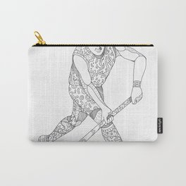 Field Hockey Player Doodle Carry-All Pouch