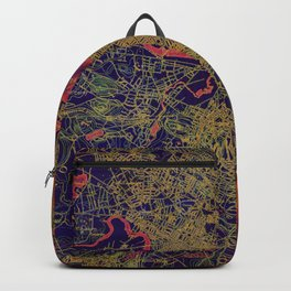 Boston antique map year 1893, united states vintage maps Backpack