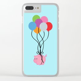 Pigs Can Fly Clear iPhone Case